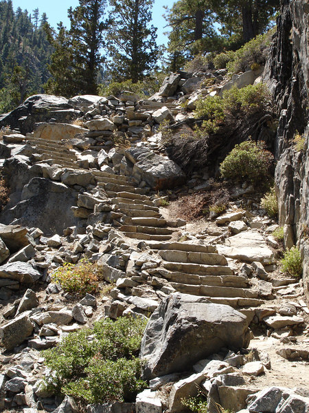 This was the easy part of the trail.  Bigger rocks replaced these nice steps further up.