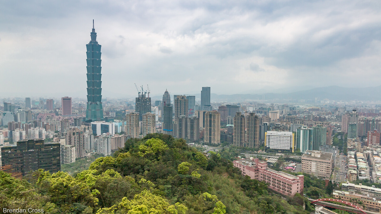 The view from of Taipei from Elephant Mountain. This would be great on a clear day at Sunset.