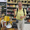 Glenmorangie scotch samples at Carrefour.  ALL the markets seem to give out liquor samples here.  Terry's in hog heaven!