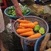 Beautiful carrots at the wetmarket