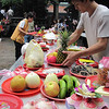 Food offerings at Longshan Temple
