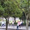 Morning exercises at DaHu Park