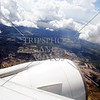 Aerial view from the aircraft during airport arrival in Taipei, Taiwan.