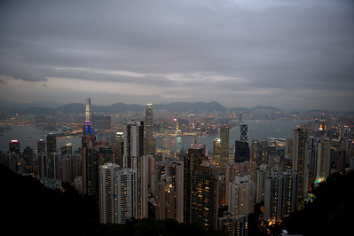 Hong Kong by night as seen from the Peak.