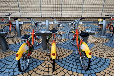 Rental bikes, Taipei.