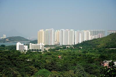 New high rises near the airport, Hong Kong.