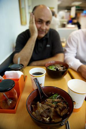Delicious cow intestine soup, Taipei.