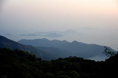 View from Po Lin monastery, Lantau island, Hong Kong.