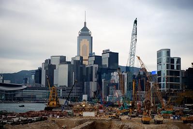 Construction work, Hong Kong.
