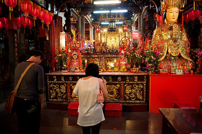 Temple on Shilin night market, Taipei.