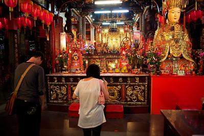 Temple on Shilin night market, Taipei.