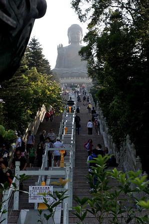 Big Buddha, Po Lin monastery, Lantau island, Hong Kong.