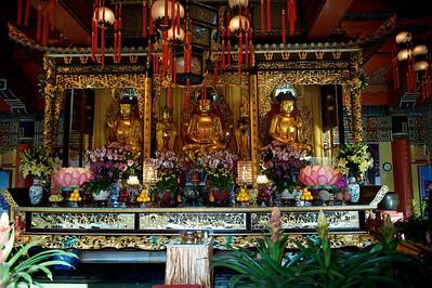 Po Lin monastery, Lantau island, Hong Kong.