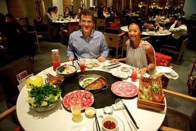 Posh hot pot restaurant, Hong Kong.
