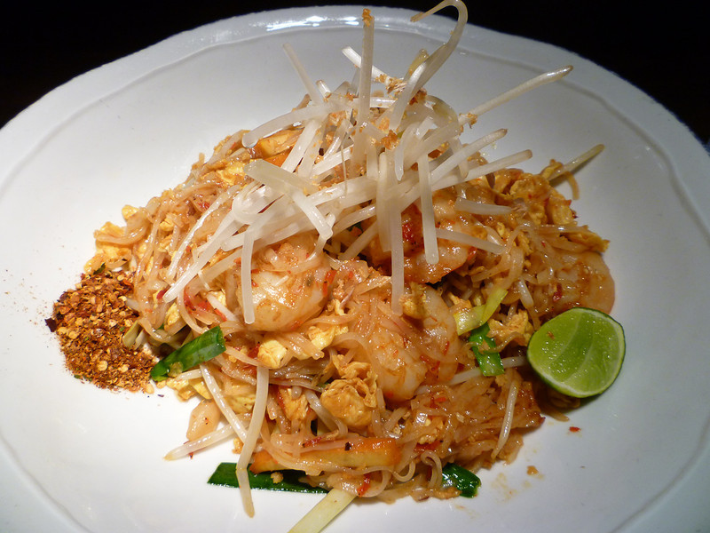 A plate of Pad Thai at a Thai Restaurant in Hong Kong
