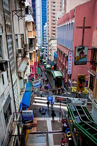 Side street in Hong Kong (The Central District)