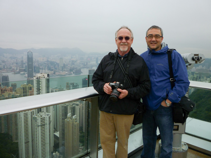 "Tom and Steve at ""The Peak"" in Hong Kong"