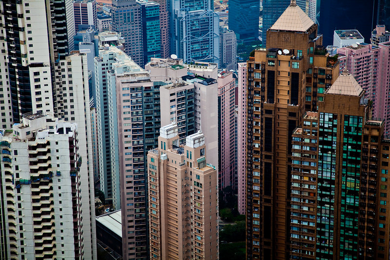 Looking down into Hong Kong