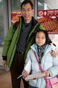 """This Dad and his lovely daughter were at """"The Peak"""" interviewing tourist to find out where we were all coming from and what we liked best about Hong Kong.  She could not have been sweeter, her English perfect and her Dad there to help her with her homework assignment."""