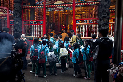 Longshan temple.  First trip out of the neighborhood.