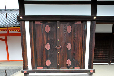 Doors inside the Imperial Palace grounds, Toyko, Japan