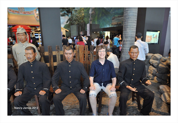 Sitting with Japanese Police Exhibit in Taiwan National Museum