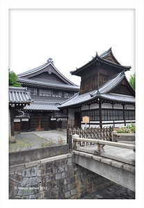 View at the Nishi Honganji Temple in Kyoto.