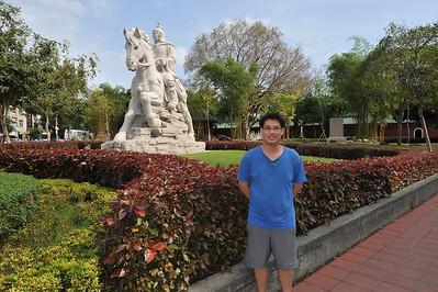 Wayne in front of the Koxinga Statue. Tainan, Taiwan