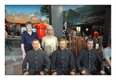 Hanging out with the Japnese police display in the Taiwan museum.