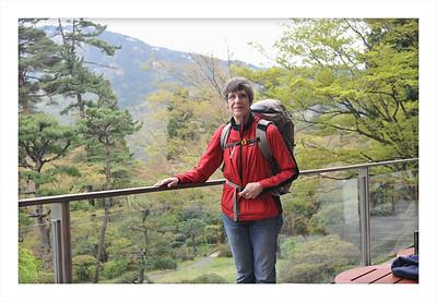 Ready to hit the road from my hotel  Kowaki-en in Hakone, Japan