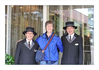 Doormen at the New Miyako Hotel in Kyoto.