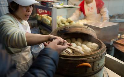 Seamed dumpling stall