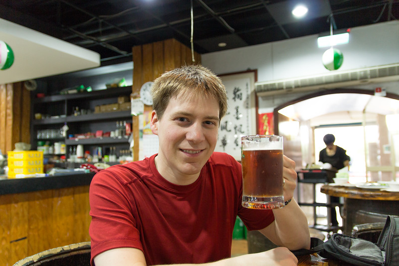 After a long bike ride against a heavy wind, we made it to the Taiwan Beer brewery!