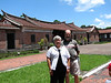 Don and Elaine in front of a preserved historical Chinese home.