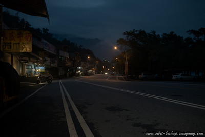 lonely road at night