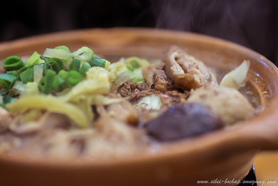 huaxi street - duck blood stew