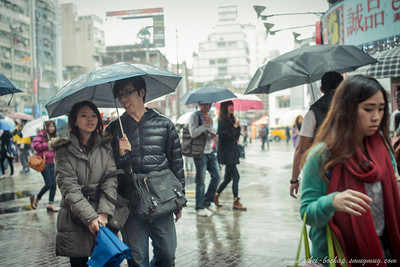 sweet moment in the rain