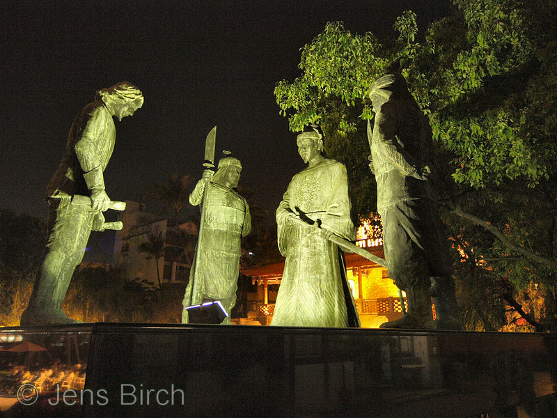 The dutch surrender to Koxinga, Chihkan tower, Tainan.