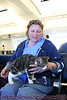 At Houston's Intercontinental Airport, I met a couple ladies with cats in special carriers. Turns out they were all going to a cat show near San Francisco. Cuuuute kitties!! Eeee!!