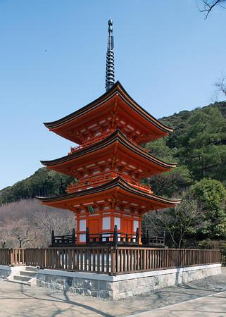 3 tier pagoda, at Kiyomizu Temple