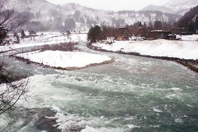 Spring Melt fills the Shokawa River