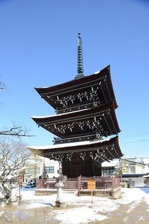 The Hida Kokubunji  three-story pagoda in Takayam-shi, Gigu-ken