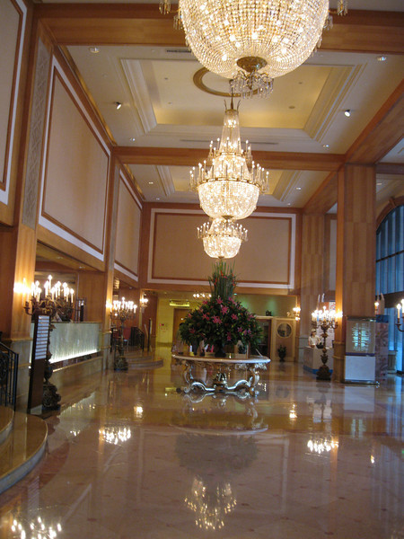 Lobby of the Hi-Lai Hotel where we'll have our wedding