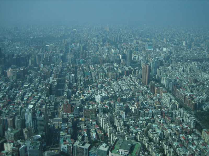 Looking down from Taipei 101, Taipei City Scape