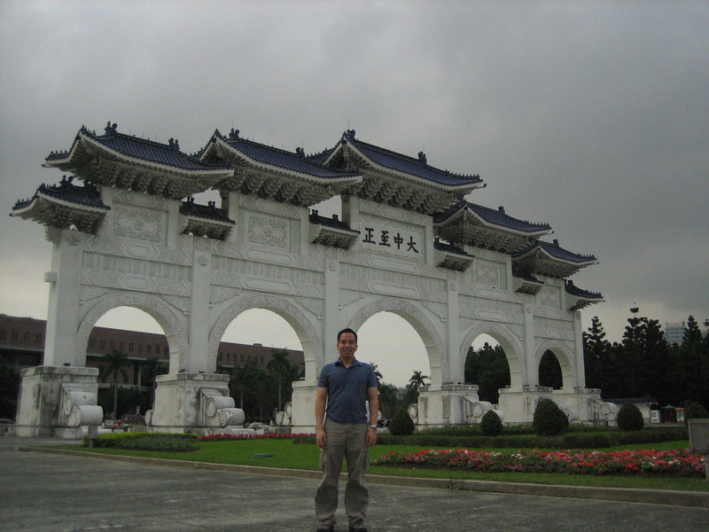 Me with the entrance gate to the CKS Memorial