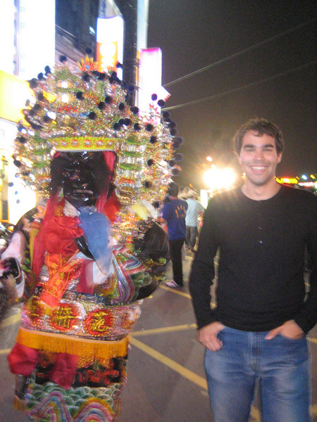 A cool street parade with Chinese deities at the Shilin Night Market.  We got there JUST in time to see it walk by!  Talk about lucky!