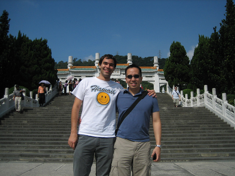 Ric and I outside of the National Palace Museum
