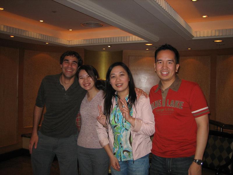 Ric, Shalin, Vickey, and me