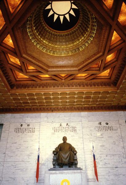 Statue of Chiang Kai-Shek inside the memorial hall