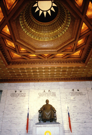 Statue of Chiang Kai-Shek inside the memorial hall
